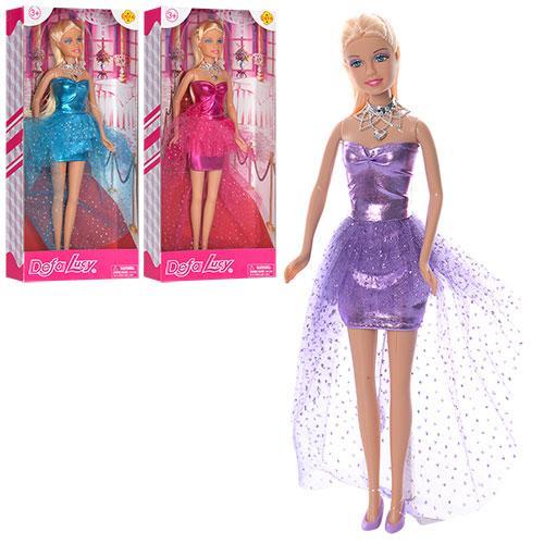 Кукла DEFA 8354  29см, 3цвета, в кор-ке, 32-15-5см