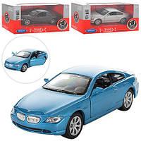 Машинка 42353CW  металл, инер-я, 11,5см, рез. колеса, двери открыв, 3цв, в кор-ке, 15-7-7см