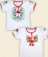 TM Dresko Вышиванка для девочки короткий рукав интерлок (10455)