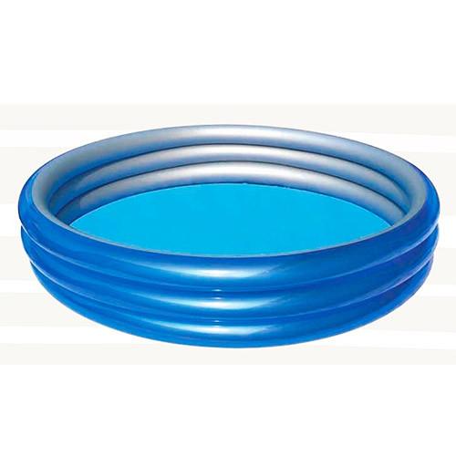BW Бассейн 51043  Металлик, круглый, 3 кольца, 201-53см