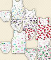 TM Dresko Комплект для девочки: майка + трусы цветная жатка (92004)