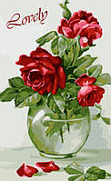 Рисование по номерам Картина серии Букет, Чувственные розы, Идейка