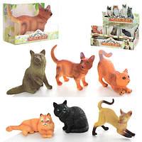 Животные Q9899-240  кошки, от5,5см, в кор-ке, 24шт в дисплее, 27-15-12см