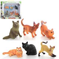 Животные Q9899-243  кошки, 6шт, от 6см, в кор-ке, 33-22-4,5см