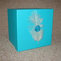 Коробка квадрат M 17 x 17 x 17 см