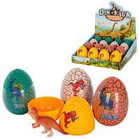 Яйцо WS-016  7см,  динозавр 6см, 16шт в дисплее,23-23-7,5см