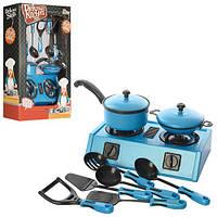 Посуда SM383-77  плита, сковородка, кухонные приборы, 9предм, в кор-ке, 39-25,5-9см