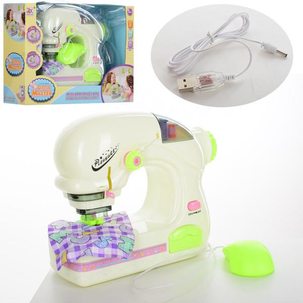 Швейная машинка 6945A  23см,шьет,педаль упр,свет,USBшнур,от сети/на бат-ке, в кор,36,5-24-10см