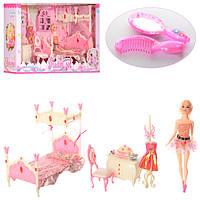Кукла 889-2  29см, шарнирная, мебель, аксессуары, наряд, в кор-ке, 66,5-35-19см