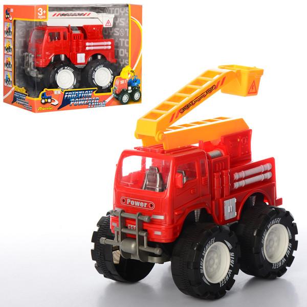 Пожарная машина 118C5  инер-я, 16см, вышка, подвижные детали, 2цвета, в кор-ке, 22-18-13см