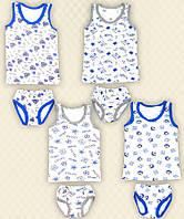 TM Dresko Комплект для мальчика майка + трусы цветной кулир (30050)