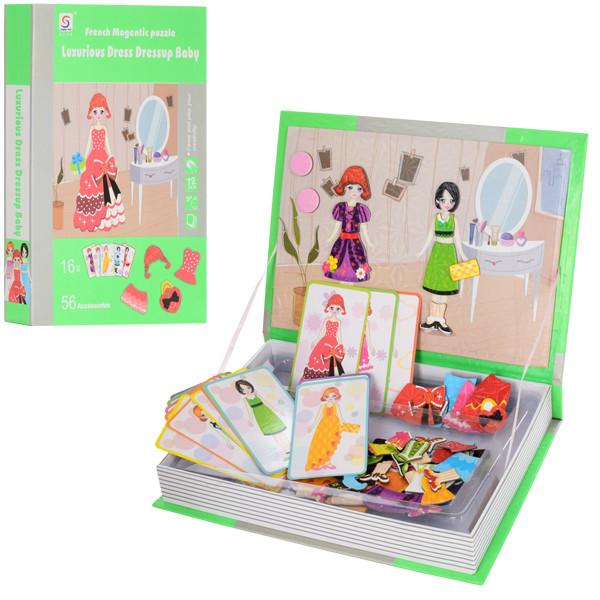 Набор для творчества LY8726-13  одень куклу,карточ,одежда на магните,72дет,в кор,19-26,5-3,5см