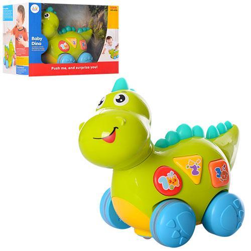 Динозавр 6105  24см,обуч-цифры,буквы,танцует,ездит,муз,св,зв,на бат,в кор-ке,28-21-18см