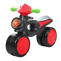Каталка-толокар 8201-3  мотоцикл,62-17-46см,выс.до сиден28см,пластик,красная,,в кор,66-37-16см