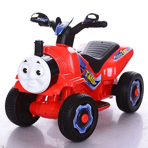 Толокар-мотоцикл M 3561E-3  2в1,мотор18W,аккум6V7AH,колесаEVA,дым,красный