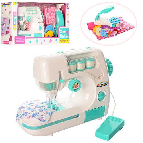 Швейная машинка 827B  23см,шьет,педаль упр,свет,пресс для заклепок,на бат,в кор,44-21,5-10,5см