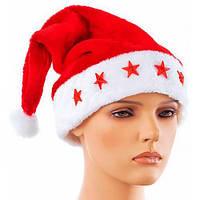Шапка Деда Мороза со светящимися звездочками