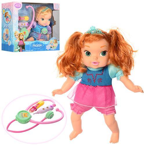 Кукла ZT8797  FR,32см,мягконабив,набор доктора,звук,2вида,на бат,в кор-ке,33,5-27-12см