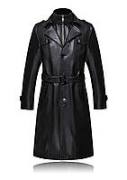 Мужское зимнее пальто с натуральной кожи на меху.
