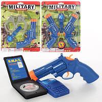 Набор военного PA2810-20-30  пистолет17см,3в,на листе,21,5-28,5-3см