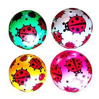 Мяч детский MS 0949-1  9 дюймов, божья коровка, ПВХ, 60-65г, 4цвета, перламутр