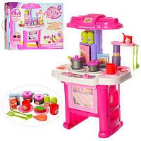 Кухня 16641G  43-30-63см,плита,зв,св,духовка,мойка,посуда,продукт,16предм,на бат,кор,45-60-10см