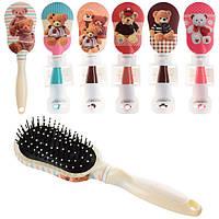 Аксессуары для волос 72001  расческа, 23см, 6видов, в кульке, 10-29-13,5см