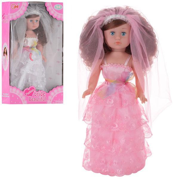 Кукла 236-K  невеста 46см, муз, 2вида, на бат, в кор-ке, 49-29-10,5см