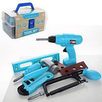 Набор инструментов 6607-1  молоток,дрель механич,ключ,пила,в чемодане,в карт.обер,22-13-11см