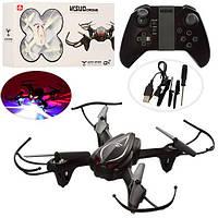 Квадрокоптер XS807  р/у2,4G,аккум,свет,USBзарядн,зап.лопасти,2цв,в кор-ке,39-20,5-8,5см