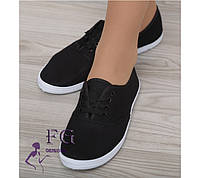 Мокасины женские на шнурке - распродажа