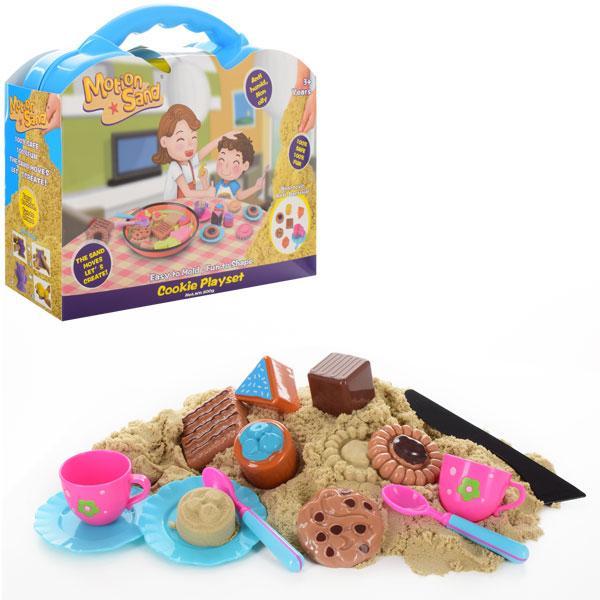 Песок для творчества MS-37  800г,сладости,формочки,посуда,в чемодане,в кор-ке,33-28-10,5см