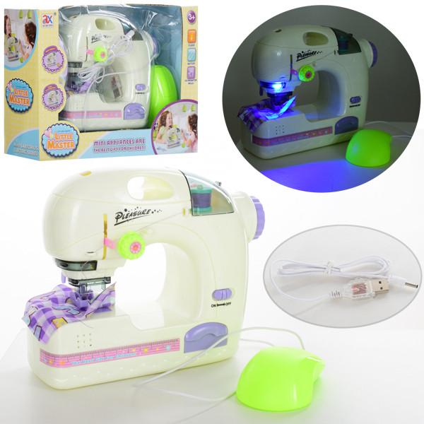 Швейная машинка 6943A  19см,шьет, педаль управления,свет,USBшнур,от сети/бат,в кор,28-20-9,5см
