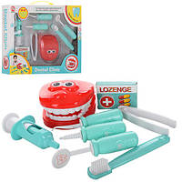 Доктор 8020B  стоматолог,зубная щетка,шприц,инструменты,8предм,в кор-ке, 34-27-7см