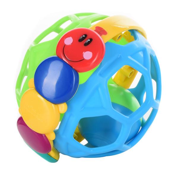 Погремушка WLTH8110J-1  шар 9,5см, гусеница, в кор-ке, 11-12-12,5см
