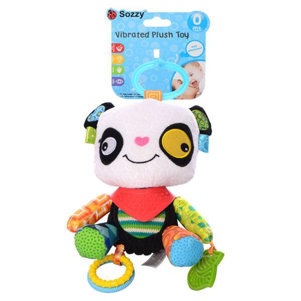 Погремушка WLTH8118J  панда, 22см, прорезыватель, плюш, в кульке, 26-13-7см
