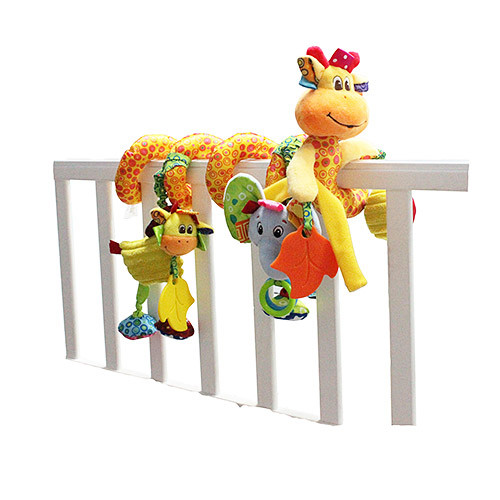 Подвеска WLTH8102J  на кроватку,жираф,плюш,подвес4шт,шурш,в куль,26-30-6см