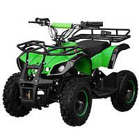 Квадроцикл HB-EATV 800N-5  мотор 800W,3аккум 12A/12V,скорость30км/ч,допуст.вес100кг,зеленый
