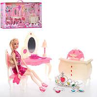 Кукла 989-4   29см,шарнирная, мебель, аксессуары, 2вида, в кор-ке,67-33,5-9см