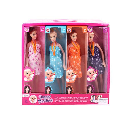 Кукла 857A  27см, беременная, пупс, 8шт в дисплее,37-32-13см