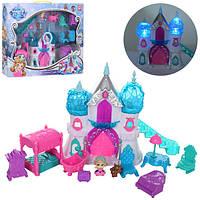 Замок 1206B  принцессы 18-20,5-6,5 муз,св,мебель,фигурки 2шт,на бат,в кор-ке,46-34-6,5см