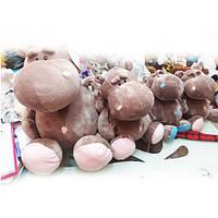 Мягкая игрушка 749-5  бегемот, 24см, 2цвета