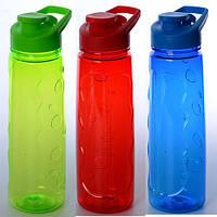 Бутылочка MS 1263  спортивная, 25см, пластик, 3 цвета, в кульке, 25-7-7см