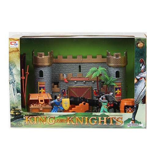 Замок 0806-3  рыцарей, фигурки, сундук, пушка, в кор-ке, 36-24,5-15см