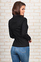 Женская офисная классическая черная блузка
