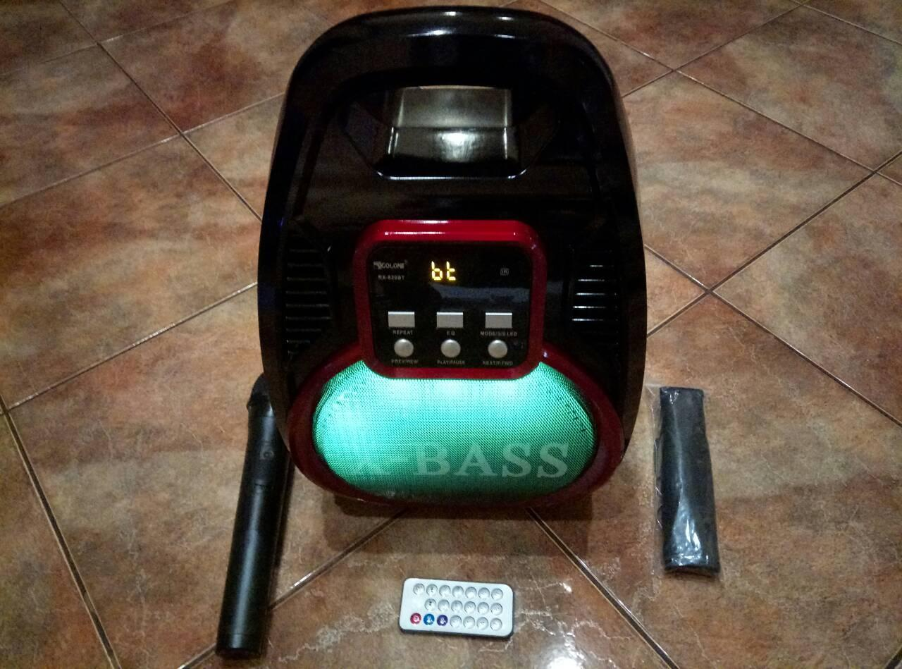 Акустична система 70 Вт Колонка переносна Bluetooth MP3 FM Караоке GOLON RX-810