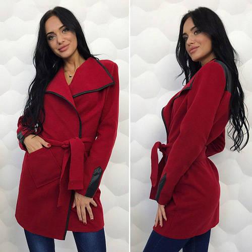 Легкое пальто кардиган кашемировый на запах с поясом  продажа 215506302677c