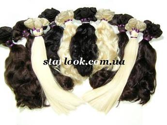 Натуральные славянские волосы на трессе длиной 50 см