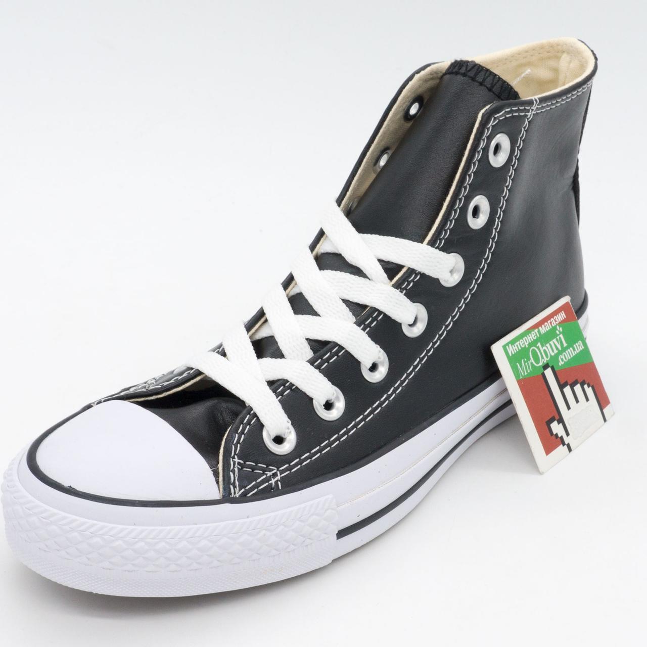 e8e7dbb7 Кожаные кеды Converse (Конверс) высокие черные. Топ качество! р.(37, 38,  40), цена 850 грн., купить в Днепре — Prom.ua (ID#390008049)