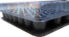 Парничок для рассады с поддоном и крышкой 33 ячейки